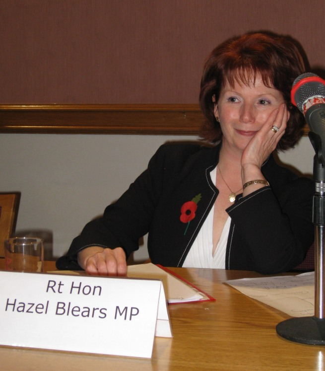 Rt Hon Hazel Blears MP taking questions